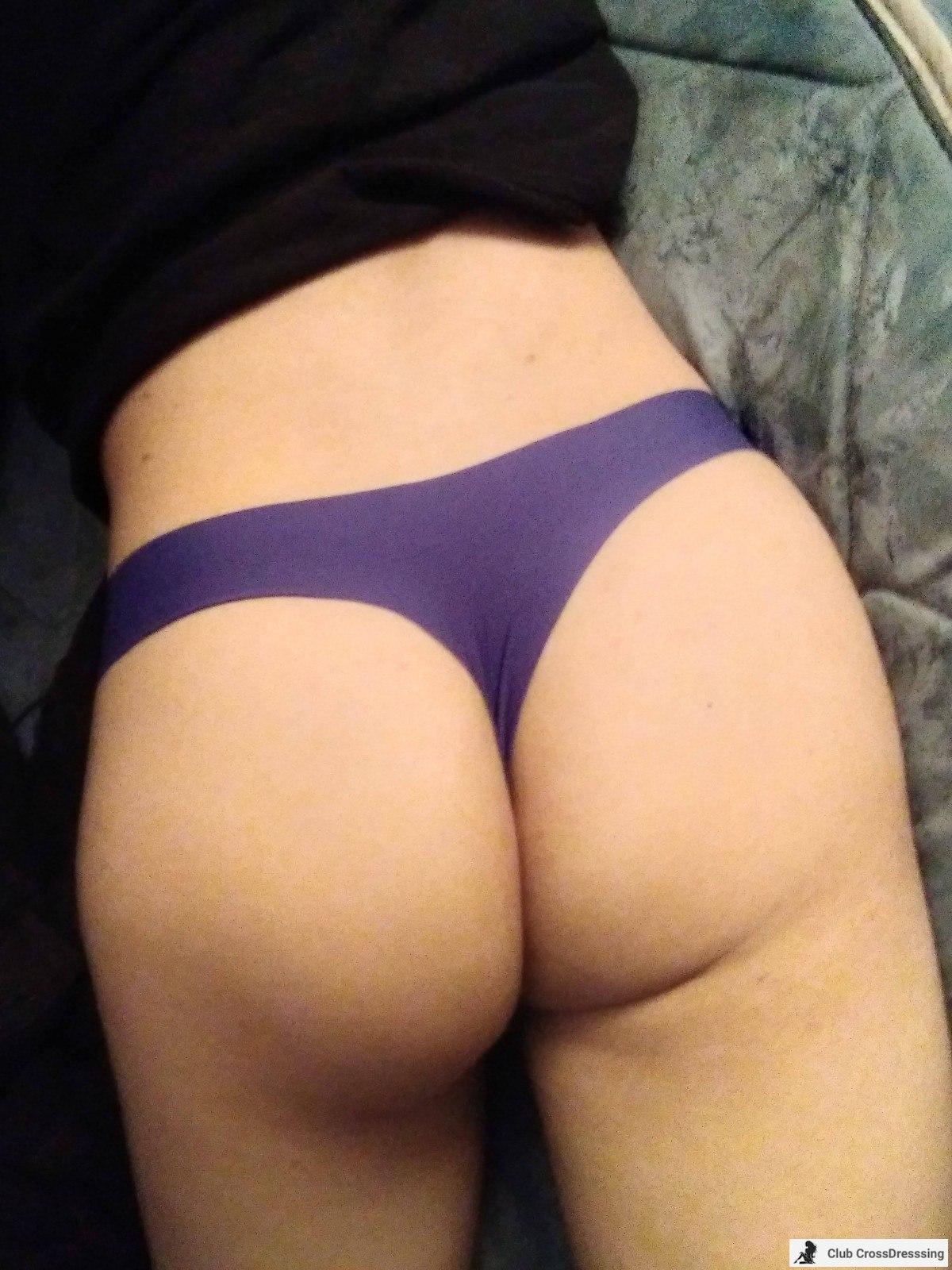 light blue thong booty