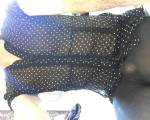 Wife's black tights and dress