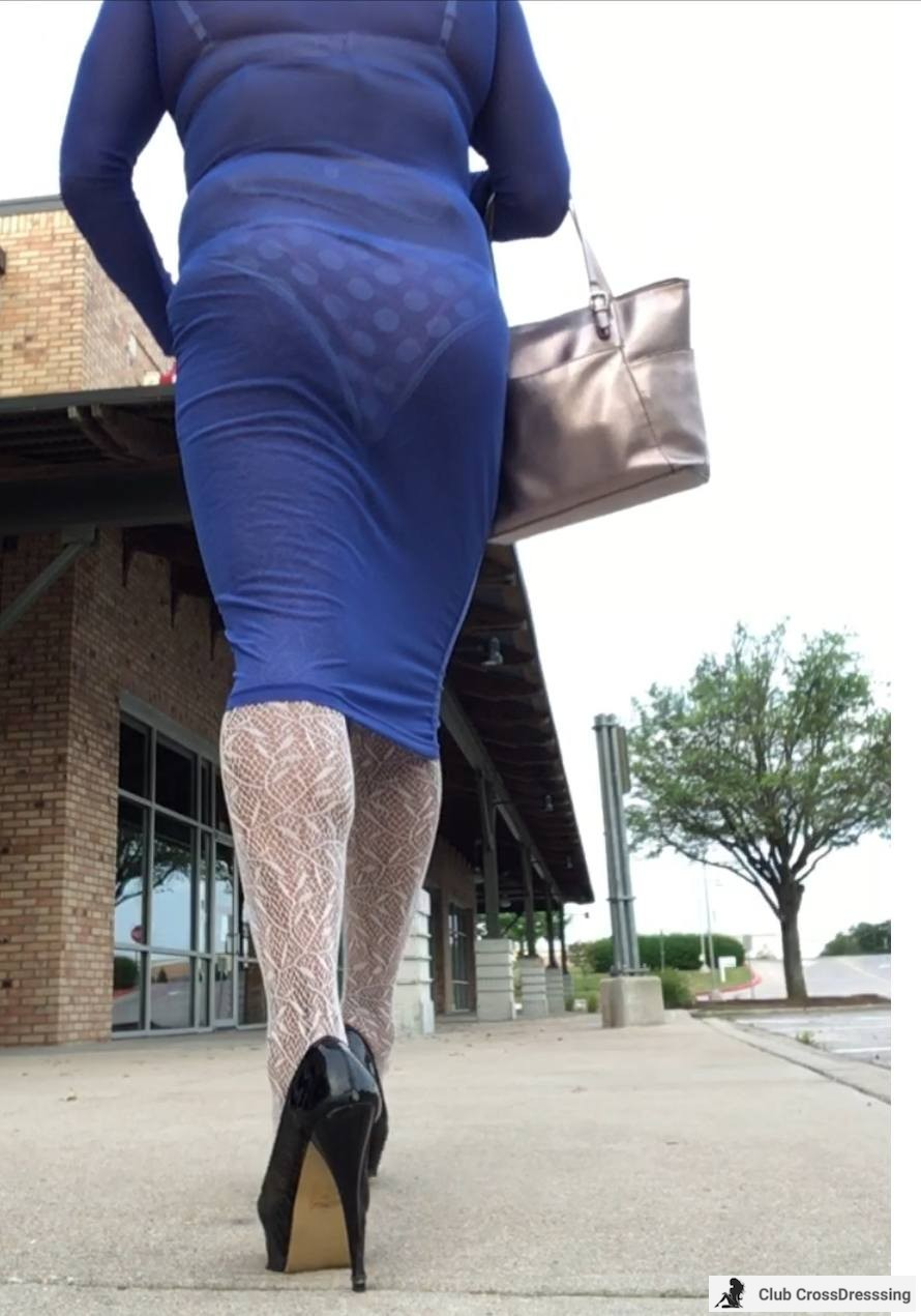 I like to pretend I'm out shopping and posing. Walking in heels is intoxicating.