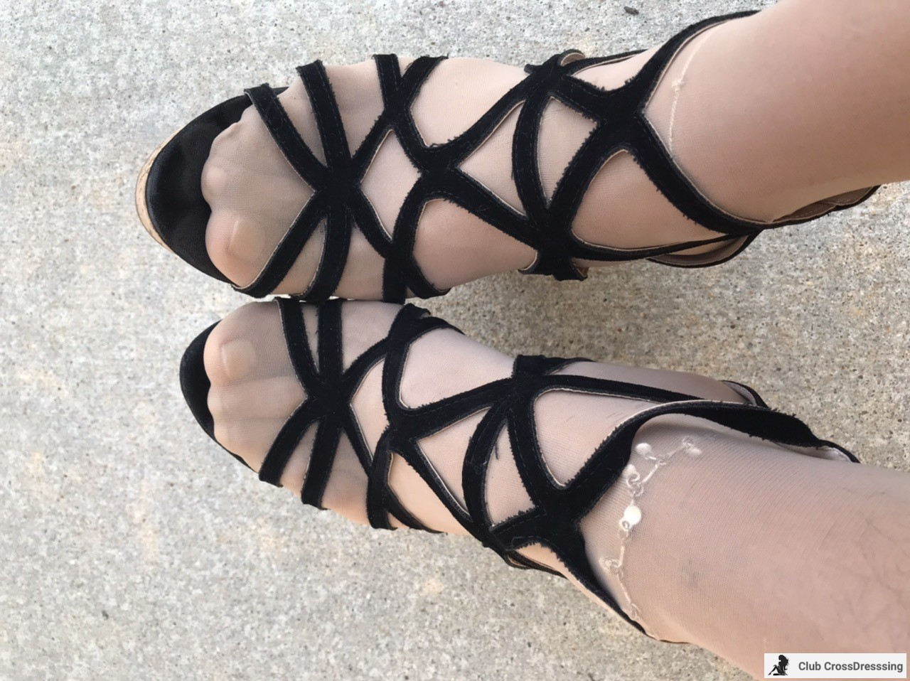 """One of my favorite pair of shoes, 2"""" platform cage Wedges with a 5"""" heel."""