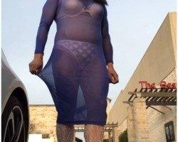 Sheer Blue Dress