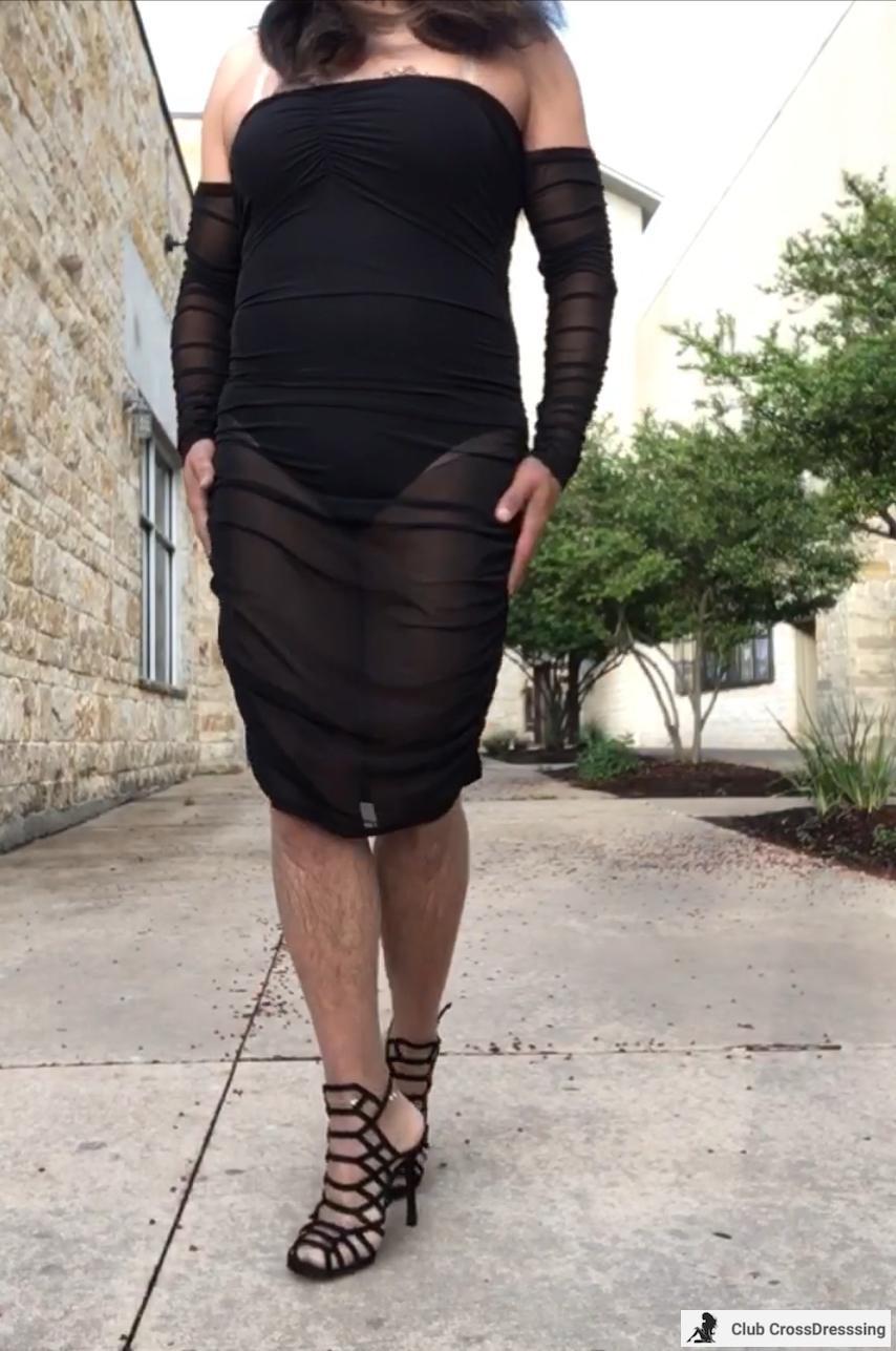 Strolling in my black dress with heels. Felt so sexy.