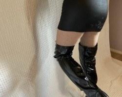 Black Skirt & Boots